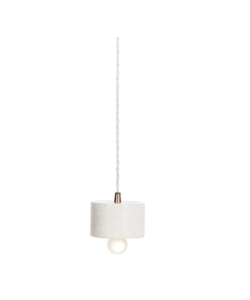 Marble Plate Pendant -White